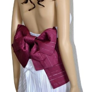 Accessories - Japanese Obi Sash and Bow Set Pre-tied